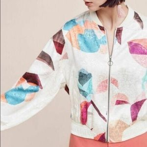 Anthropologie Elevenses Silky bomber Jacket